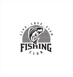 fishing sport club logo vector image