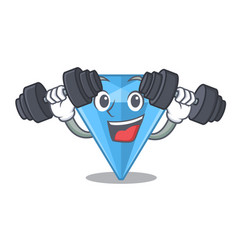 Fitness sapphire gems isolated in character vector