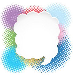 Fluffy cloud bubble on colorful background vector