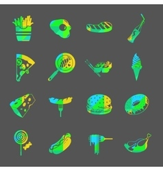 food colorful icon set vector image