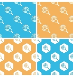 Global search pattern set colored vector