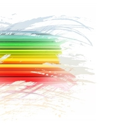 Grunge rainbow brush stroke with stripes on white vector image