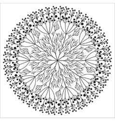 Hand drawing floral mandala zentangle element vector
