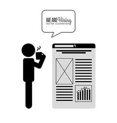 Hiring workers design vector