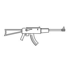 Icon assault riffle vector