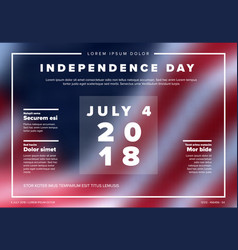 independence day banner poster vector image