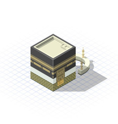 Isometric Masjid Al-Haram The Sacred Mosque vector image