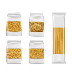 Italian pasta packs penne farfalle spaghetti vector