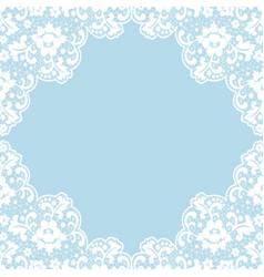 lace vintage frame vector image