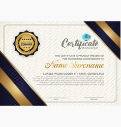 Luxury modern certificate template with texture vector