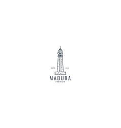 Madura island indonesia monument vector