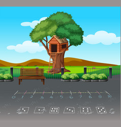 math game at playgound landscape vector image