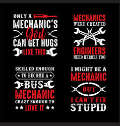 mechanic quote and saying good for print vector image