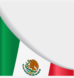 Mexican flag background vector