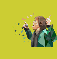 Mick jagger rolling stone vector