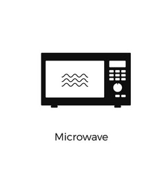 microwave icon electronic kitchen appliance vector image