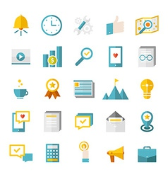 Modern flat business icons vector image