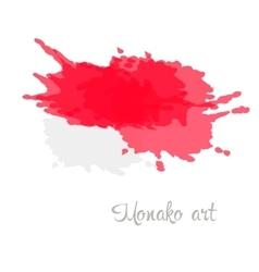 Monegasque art flag vector