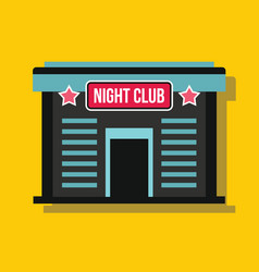 Night club in flat style with shadow vector