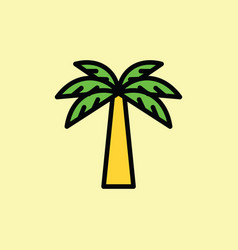 palm icon thin line on color background vector image