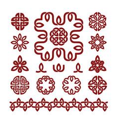 Patterns and parts celtic knots set vector