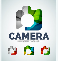 photo camera abstract icons vector image