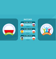 Poland national team schedule matches in the vector