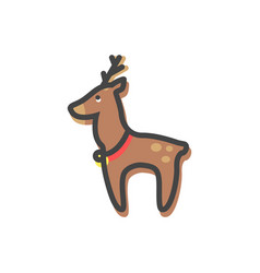 reindeer with bell christmas vector image