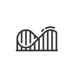 roller coaster icon vector image