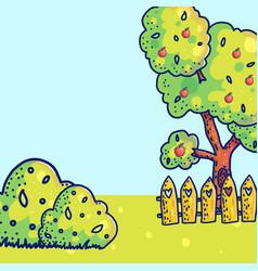 rustic landscape background vector image