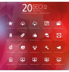 SEO 2 icons on bright blurred background vector image