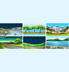 Sets different backgrounds vector