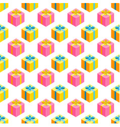 simple pattern with gifts vector image
