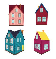 Small rural house vector