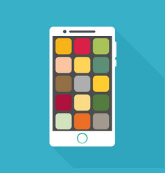 Smartphone icon in iphone style smartphone icon vector