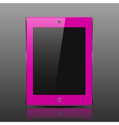 Tablet computer pink color vector image