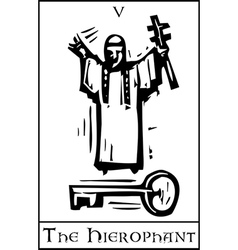 Tarot Card Hierophant vector
