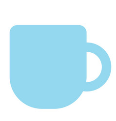 Teacup color simple vector