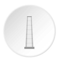 The obelisk of buenos aires icon circle vector