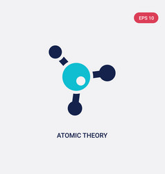 Two color atomic theory icon from education vector