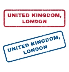United Kingdom London Rubber Stamps vector