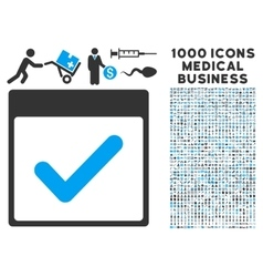 Valid Day Calendar Page Icon With 1000 Medical vector