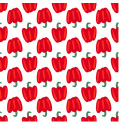 Vegetable seamless pattern with bulgarian pepper vector