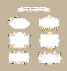vintage cherry blossom frame collection vector image