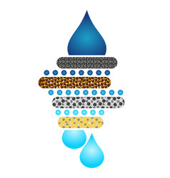 water filtration system circuit vector image