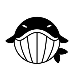 Whale solid vector