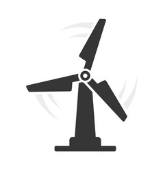 windmill eco icon on white background vector image