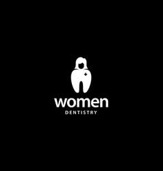 women dentistry logo design concept vector image
