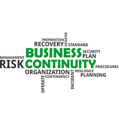 Word cloud - business continuity vector