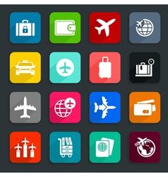 Aircraft icons2 vector image